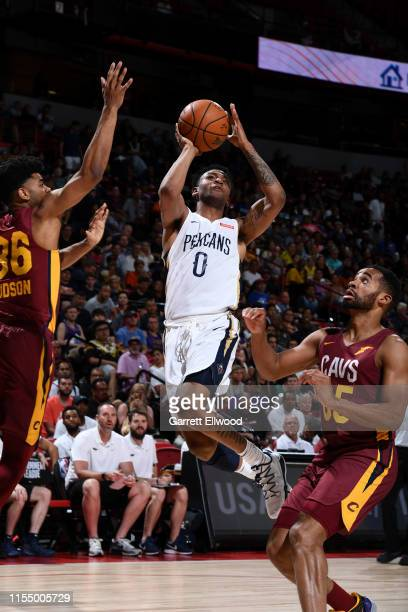 Nickeil AlexanderWalker of the New Orleans Pelicans shoots the ball against the Cleveland Cavaliers on July 10 2019 at the Thomas Mack Center in Las...