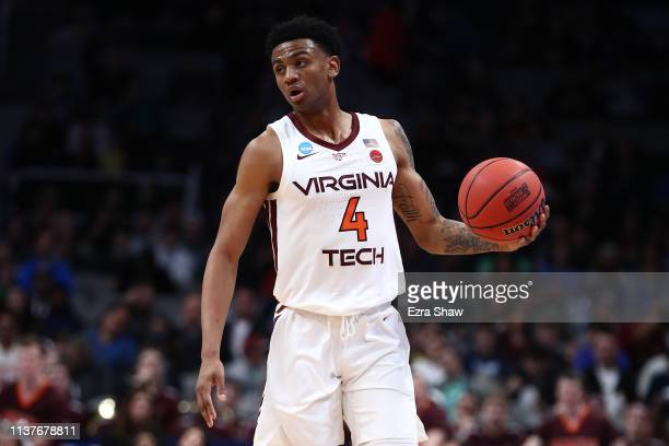 Nickeil AlexanderWalker of the Virginia Tech Hokies controls the ball against the Saint Louis Billikens during their game in the First Round of the...