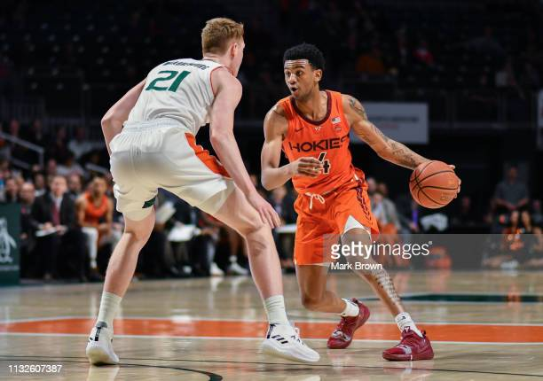 Nickeil AlexanderWalker of the Virginia Tech Hokies in action against the Miami Hurricanes at Watsco Center on January 30 2019 in Miami Florida
