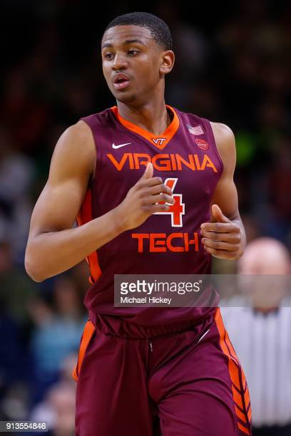 Nickeil AlexanderWalker of the Virginia Tech Hokies is seen during the game against the Notre Dame Fighting Irish at Purcell Pavilion on January 27...