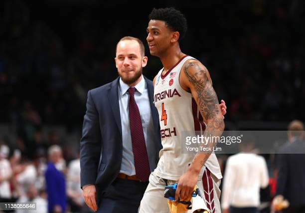 Nickeil AlexanderWalker of the Virginia Tech Hokies walks off the court after defeating the Liberty Flames during the second round of the 2019 NCAA...