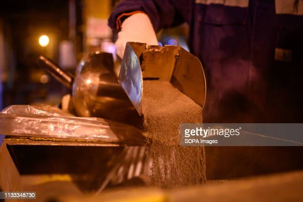 Nickel ore seen being processed at the PT Vale Indonesia plant Nickel mining by the PT Vale Indonesia a nickel plant in Soroako South Sulawesi...