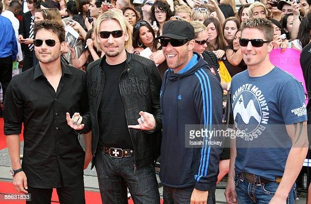 Nickelback arrive at the MuchMusic Video Awards on June 21 2009 in Toronto Canada