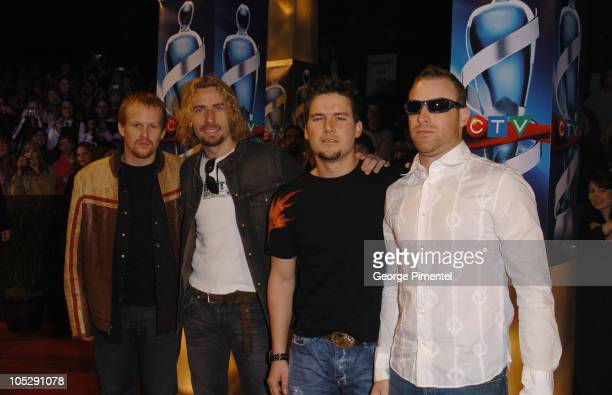 Nickelback during 2004 Juno Awards Arrivals at Rexall Place in Edmonton Alberta Canada