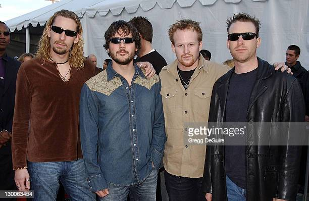 Nickelback during The 30th Annual American Music Awards Arrivals by Gregg DeGuire at Shrine Auditorium in Los Angeles California United States