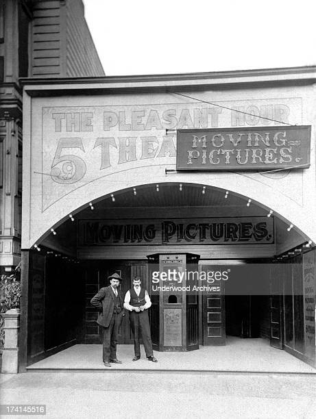 A nickelodeon called 'The Pleasant Hour' which was already incorporating moving pictures into its repertoire of entertainment United States 1910