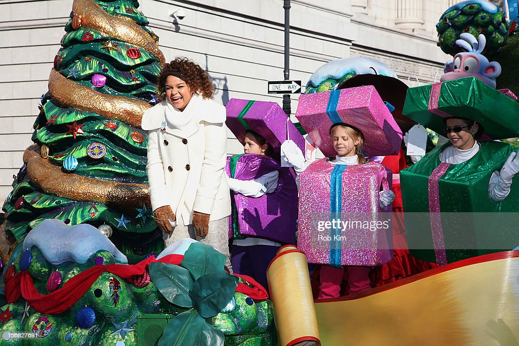 Nickelodeon star and Columbia recording artist Rachel Crow (L) and Dora the Explorer attend the 86th Annual Macy's Thanksgiving Day Parade on November 22, 2012 in New York City.