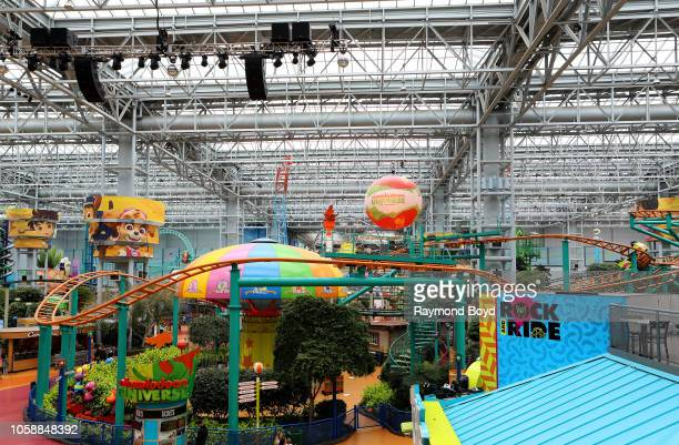 Nickelodeon Universe indoor amusement park in the center of the Mall of America in Bloomington Minnesota on October 14 2018