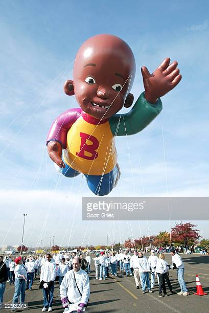 """Nickelodeon's """"Little Bill"""" takes a practice flight to prepare for its debut as the first African American balloon in the 76th Annual Macy's..."""