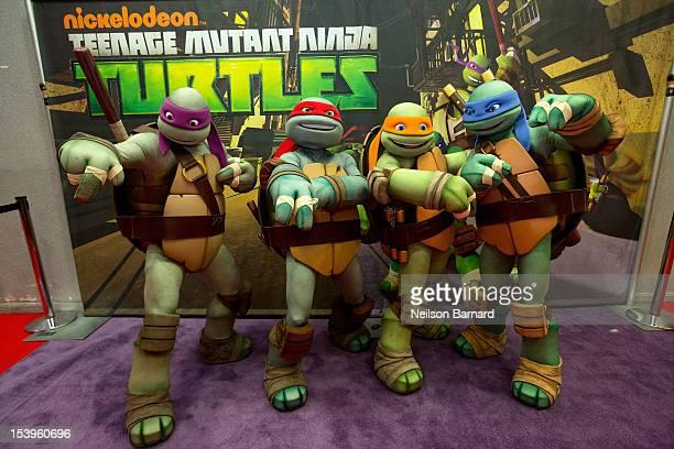 Displays teenage mutant ninja turtles getty nickelodeons teenage mutant ninja turtles emerge at ny comic con 2012 at the jacob javitz center voltagebd Gallery