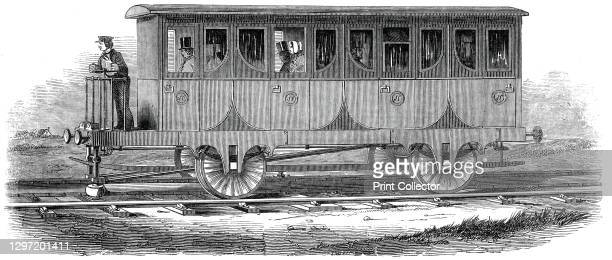 Nickel's New Railway, 1845. 'Messrs. Keene and Nickels have just patented a novel system of Railway Locomotion, which is founded on principles stated...