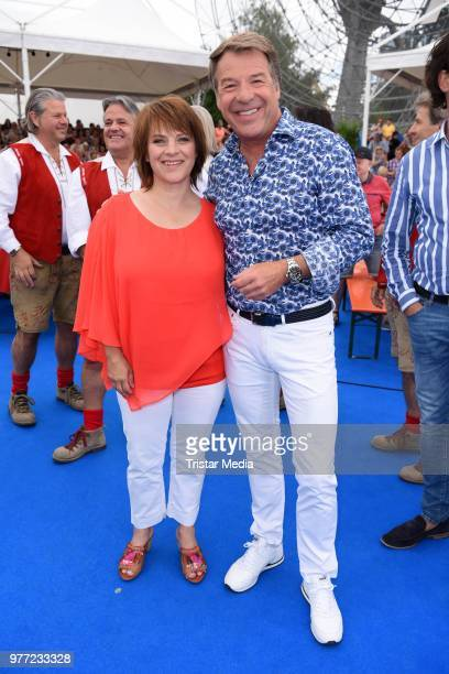 Nicki and Patrick Lindner during the ARD live tv show 'Immer wieder sonntags' at EuropaPark on June 17 2018 in Rust Germany