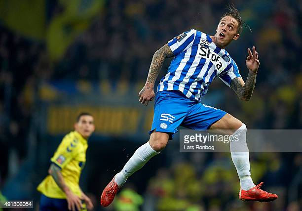 Nicki Bille Nielsen of Esbjerg fB in action during the Danish Alka Superliga match between Brondby IF and Esbjerg fB at Brondby Stadion on October 4...