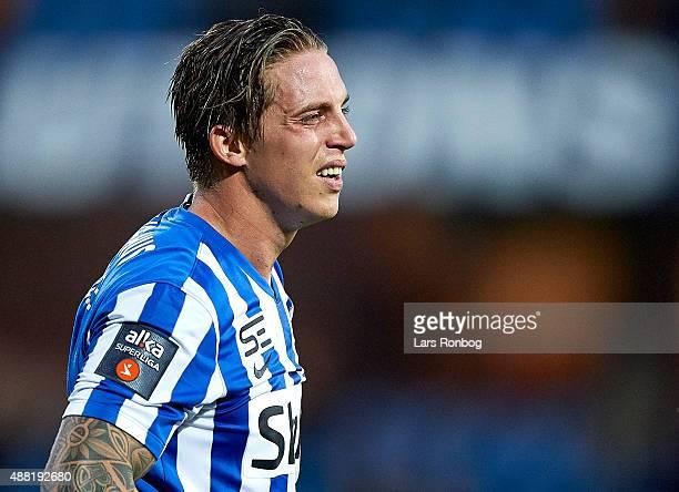 Nicki Bille Nielsen of Esbjerg fB looks on during the Danish Alka Superliga match between Esbjerg fB and OB Odense at Blue Water Arena on September...