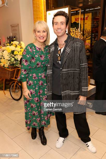 Nicki Chapman and Nick Grimshaw attend the L'Occitane x ELN Cafe Launch Party at their Flagship store on Regent Street on November 07 2019 in London...