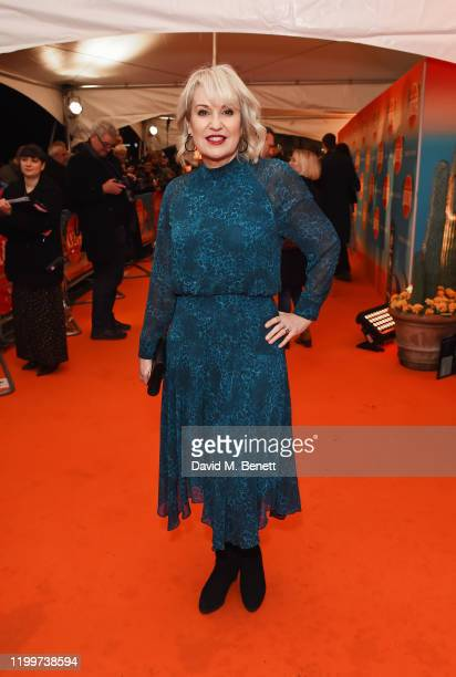 Nicki Chapman arrives at the gala performance of Cirque De Soleil's LUIZA at The Royal Albert Hall on January 15 2020 in London England