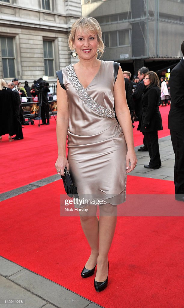 Nicki Chapman arrives at the Olivier Awards 2012 at The Royal Opera House on April 15, 2012 in London, England.