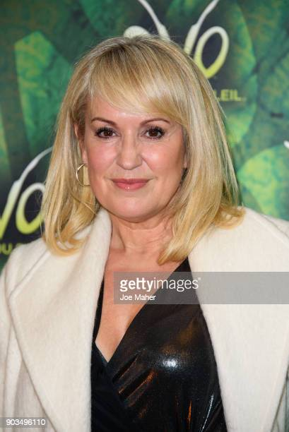 Nicki Chapman arriving at the Cirque du Soleil OVO premiere at Royal Albert Hall on January 10 2018 in London England