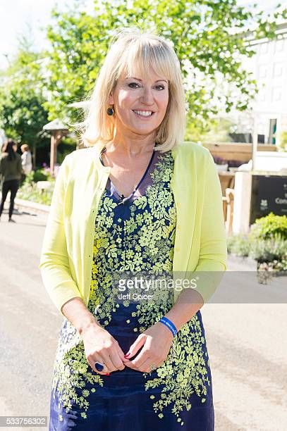 Nicki Chapman attends Chelsea Flower Show press day at Royal Hospital Chelsea on May 23 2016 in London England