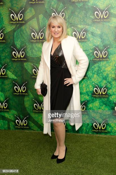 Nicki Chapman attends the Cirque du Soleil OVO premiere at Royal Albert Hall on January 10 2018 in London England