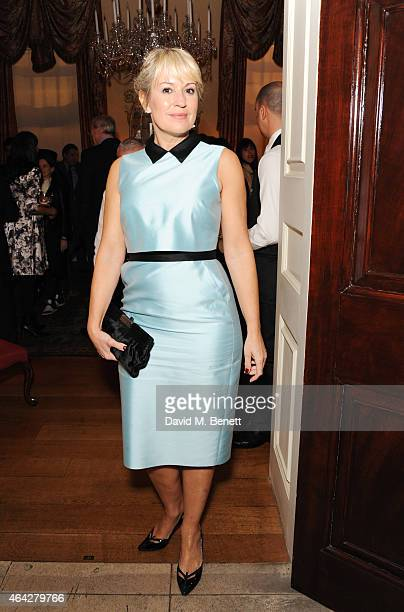 Nicki Chapman attends the Creative London party hosted by the British Fashion Council and BPI at Spencer House on February 23 2015 in London England