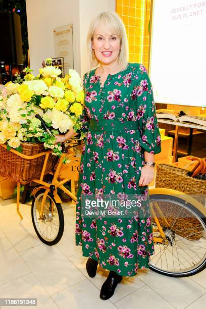 Nicki Chapman attends the launch of the ELN Beauty Cafe at the L'Occitane Flagship Store Regent Street on November 07 2019 in London England