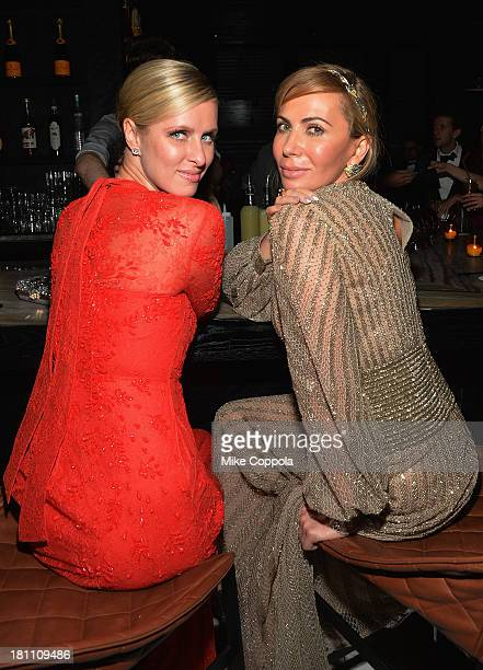 Nicki Hilton and Inga Rubenstein attend the 11th BrazilFoundation NYC Gala after party at Bar Naná on September 18 2013 in New York City