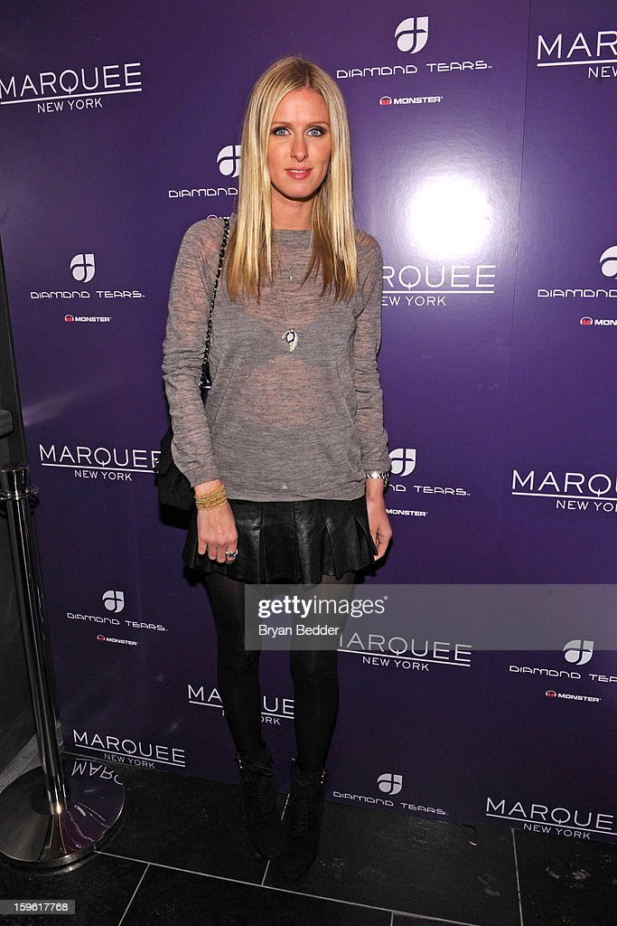 Nicki Hilton attends the grand opening of Marquee New York on January 16, 2013 in New York City.