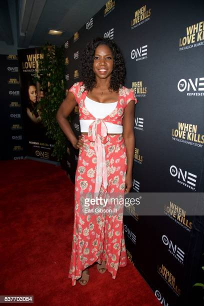 Nicki Micheaux attends the Premiere Of TV One's 'When Love Kills' at Harmony Gold on August 22 2017 in Los Angeles California