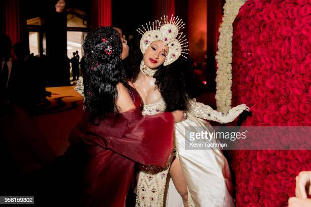 Nicki Minaj and Cardi B at Heavenly Bodies Fashion The Catholic Imagination Costume Gala at The Metropolitan Museum of Art on May 7 2018 in New York...