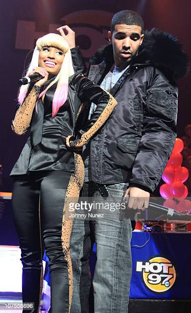 Nicki Minaj and Drake perform at the Hot 97 Thanksgiving Thank you Concert at Hammerstein Ballroom on November 25 2010 in New York City