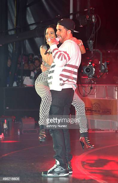 Nicki Minaj and Drake perform in concert during Hot 97 Summer Jam 2014 at MetLife Stadium on June 1 2014 in East Rutherford City