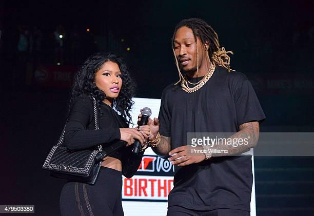 Nicki Minaj and Future perform at Hot 1079 Birthday Bash Block Show at Philips Arena on June 20 2015 in Atlanta Georgia