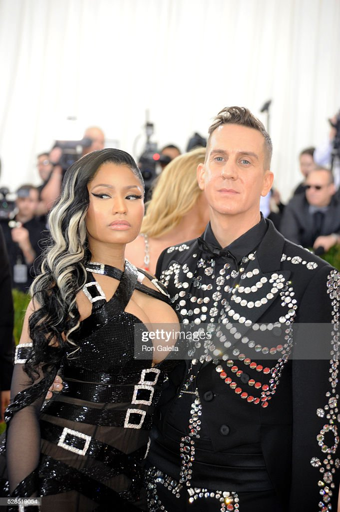 Nicki Minaj and Jeremy Scott at Metropolitan Museum of Art on May 2, 2016 in New York City.
