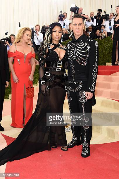 Nicki Minaj and Jeremy Scott attend the 'Manus x Machina Fashion In An Age Of Technology' Costume Institute Gala at Metropolitan Museum of Art on May...