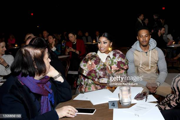 Nicki Minaj and Kenneth Petty attend the Marc Jacobs Fall 2020 runway show during New York Fashion Week on February 12 2020 in New York City