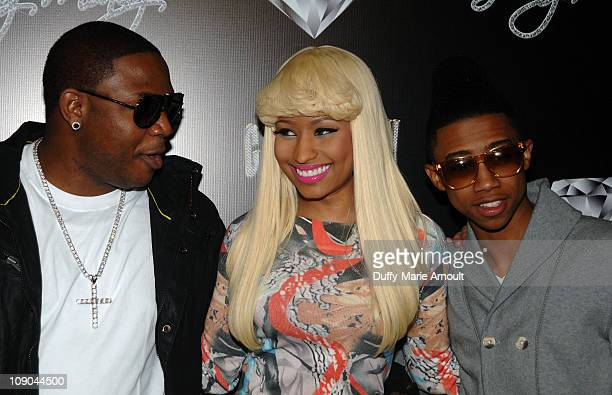 Nicki Minaj and Lil Twist attend Cash Money Records Annual PreGrammy Awards Party at The Lot on February 12 2011 in West Hollywood California