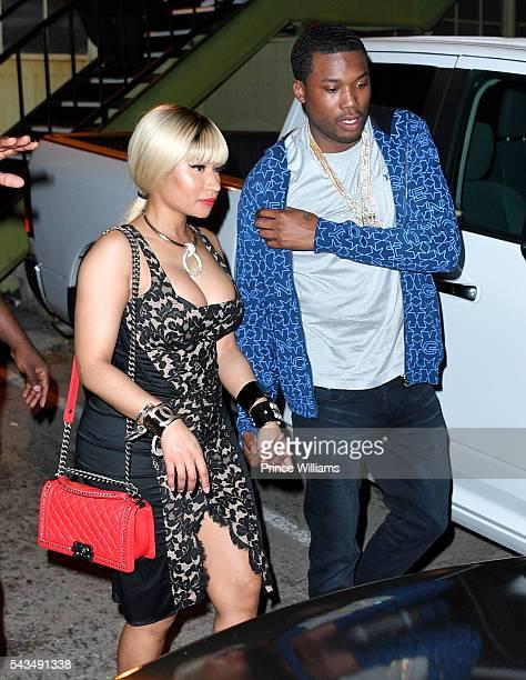 Nicki Minaj and Meek Mill on June 28 2016 in Los Angeles California