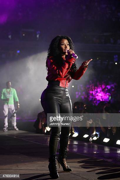 Nicki Minaj and Meek Mill perform during 2015 Hot 97 Summer Jam at MetLife Stadium on June 7 in East Rutherford New Jersey
