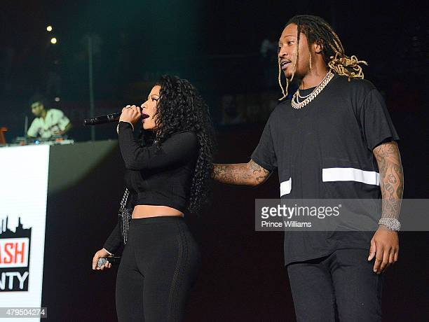 Nicki Minaj and Rapper Future attend Hot 1079 Birthday Bash Block Show at Philips Arena on June 20 2015 in Atlanta Georgia