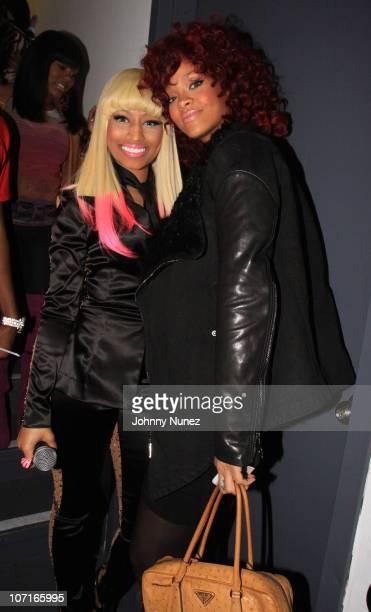 Nicki Minaj and Rihanna perform at the Hot 97 Thanksgiving Thank you Concert at Hammerstein Ballroom on November 25 2010 in New York City