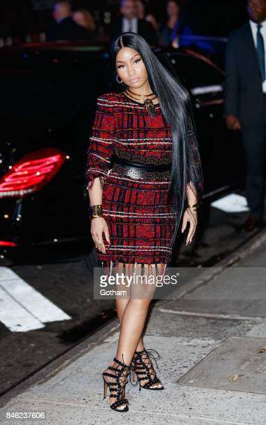 Nicki Minaj arrives at Hand in Hand benefit for hurricane victims at ABC studios on September 12 2017 in New York City