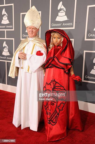 Nicki Minaj arrives at The 54th Annual GRAMMY Awards at Staples Center on February 12, 2012 in Los Angeles, California.
