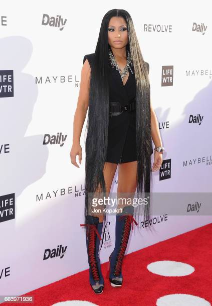 Nicki Minaj arrives at the Daily Front Row's 3rd Annual Fashion Los Angeles Awards at the Sunset Tower Hotel on April 2 2017 in West Hollywood...