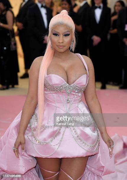 Nicki Minaj arrives for the 2019 Met Gala celebrating Camp Notes on Fashion at The Metropolitan Museum of Art on May 06 2019 in New York City