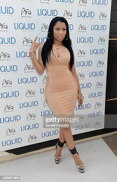 Nicki Minaj arrives LIQUID Pool Lounge at ARIA on May 24 2014 in Las Vegas Nevada