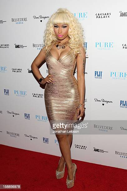 Nicki Minaj arrives to New Year's Eve At PURE Nightclub on December 31 2012 in Las Vegas Nevada