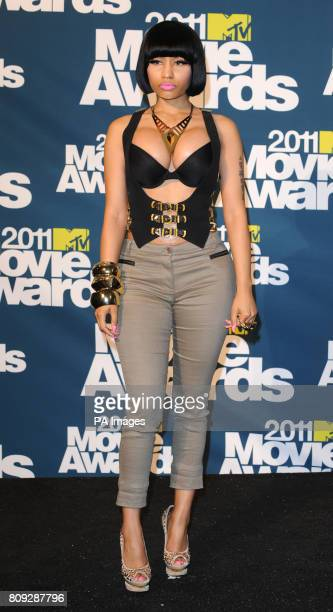 Nicki Minaj at the MTV Movie Awards 2011 at the Gibson Amphitheatre in Universal City Los Angeles