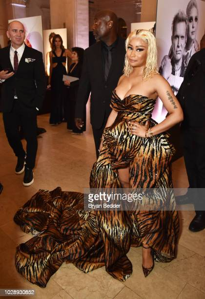 Nicki Minaj attends as Harper's BAZAAR Celebrates ICONS By Carine Roitfeld at the Plaza Hotel on September 7 2018 in New York City