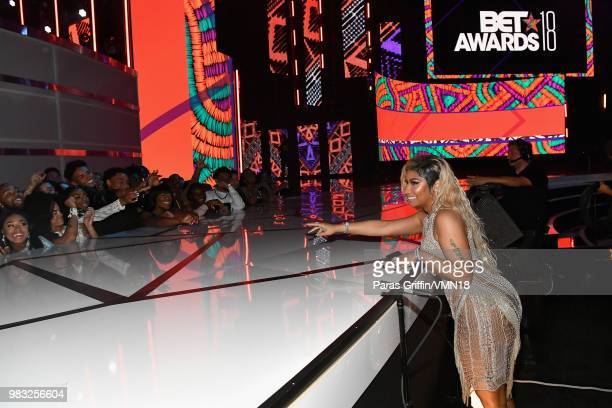 Nicki Minaj attends at the 2018 BET Awards at Microsoft Theater on June 24 2018 in Los Angeles California